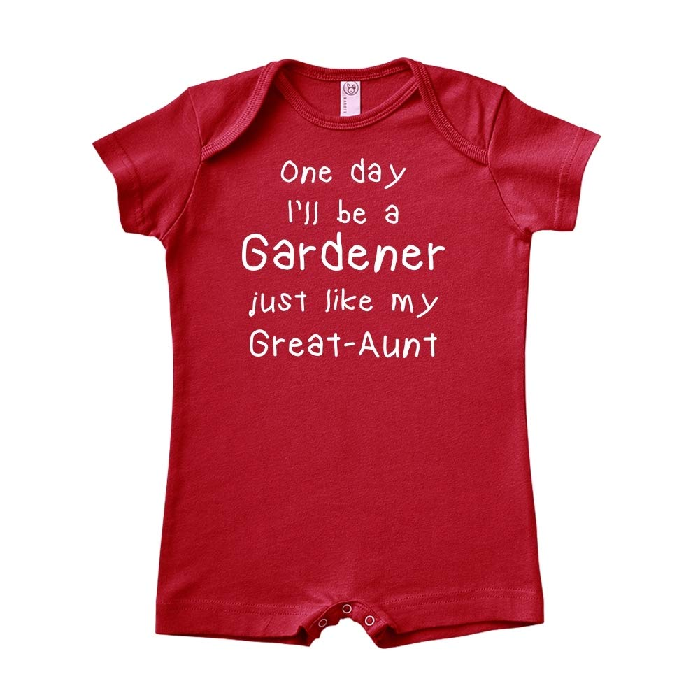 Baby Romper One Day Ill Be A Gardener Just Like My Great-Aunt