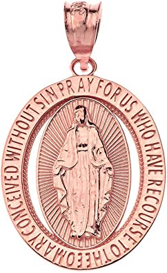 CaliRoseJewelry Sterling Silver Saint Christopher Pray for Us Oval Charm Pendant Necklace