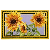 Homefires Accents Giant Sunflowers Indoor Rug, 22-Inch by 34-Inch