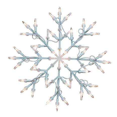 Christmas Workshop 35 LED White Snowflake Silhouette Light ~ Indoor ~  Battery Operated ~ Christmas Decoration~ 77700