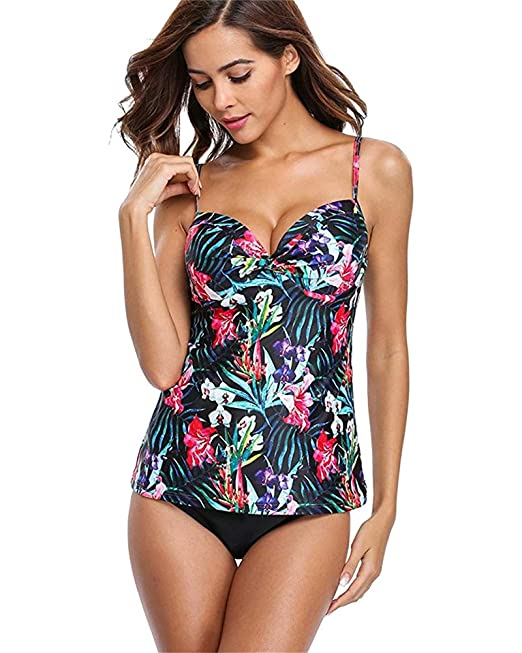 2019 New Women Two Piece Bikini Sets Floral  Maternity Swimwear Size UK 6-22