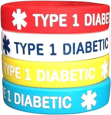 pulseras de identificación médica para niños diabetes