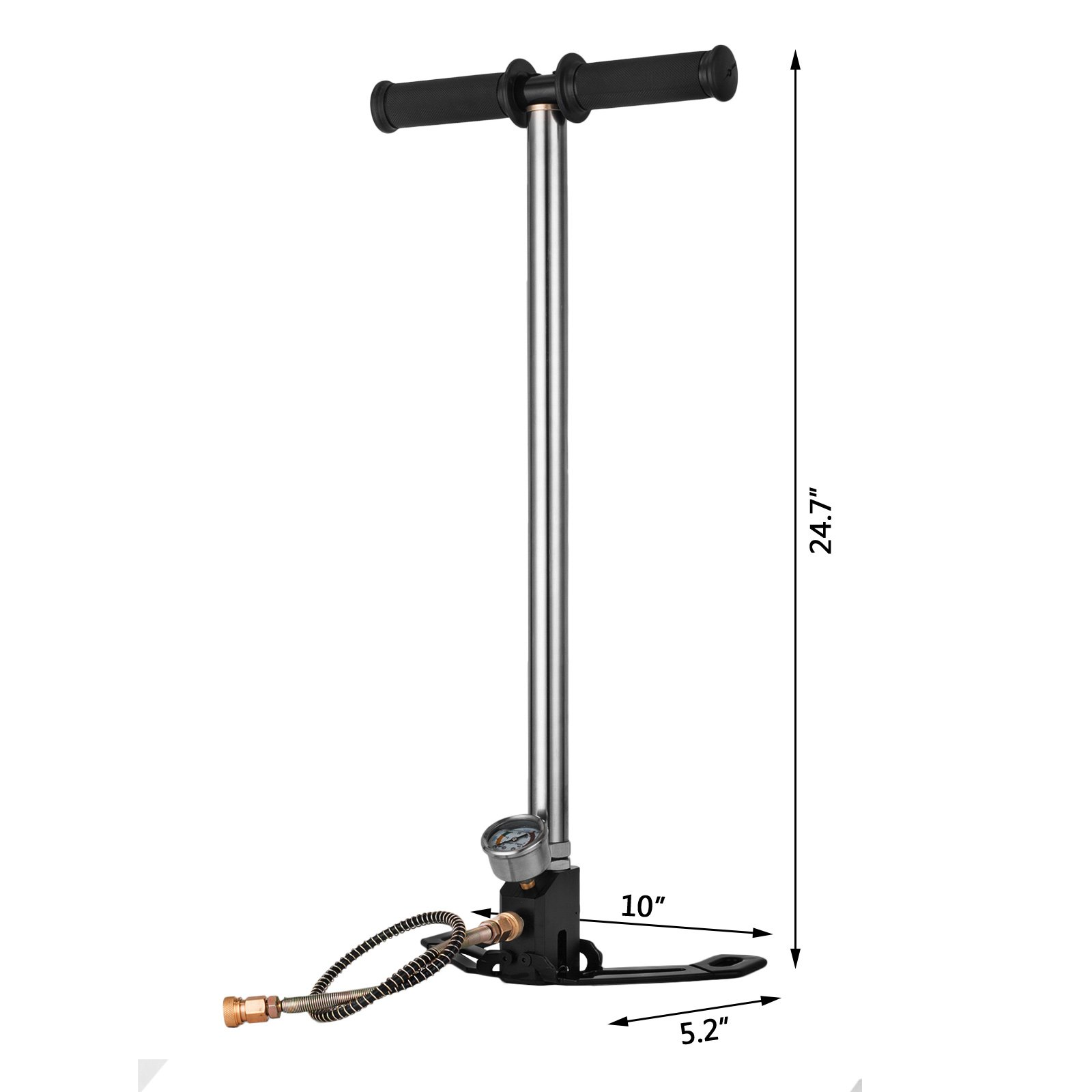 Mophorn High Pressure Hand Pump 3 Stage up to 4500 psi PCP Pump Safe and Convenient Airgun PCP Pump High Pressure Hand Pump for High Pressure Tires and Pre-Charged Pneumatic Airguns