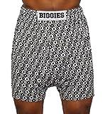 Biggies Boxers Underwear Men's Viscose Jersey Short Leg (22XL, Geometric)