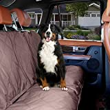 Cheap Dog Car Seat Cover – Brown Waterproof Non Slip Padded Quilted Protector with Seat Anchors and Head Straps