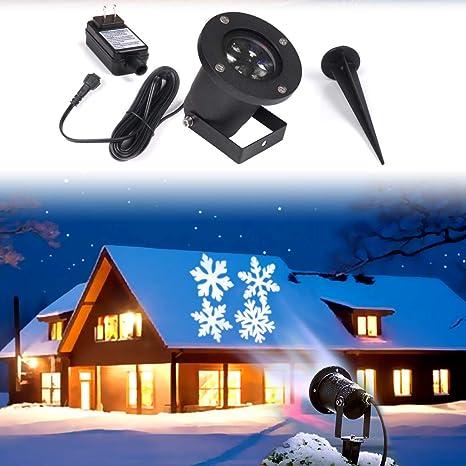KOOT Proyector LED de copos de nieve, proyector de Navidad ...