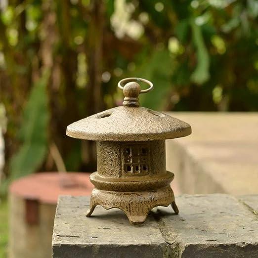 Estatuas para jardín Lámpara De Piedra Jardín Japonés Esculturas De Velas De Decoración Zen Chino Adornos Lámpara 15 * 19cm: Amazon.es: Hogar