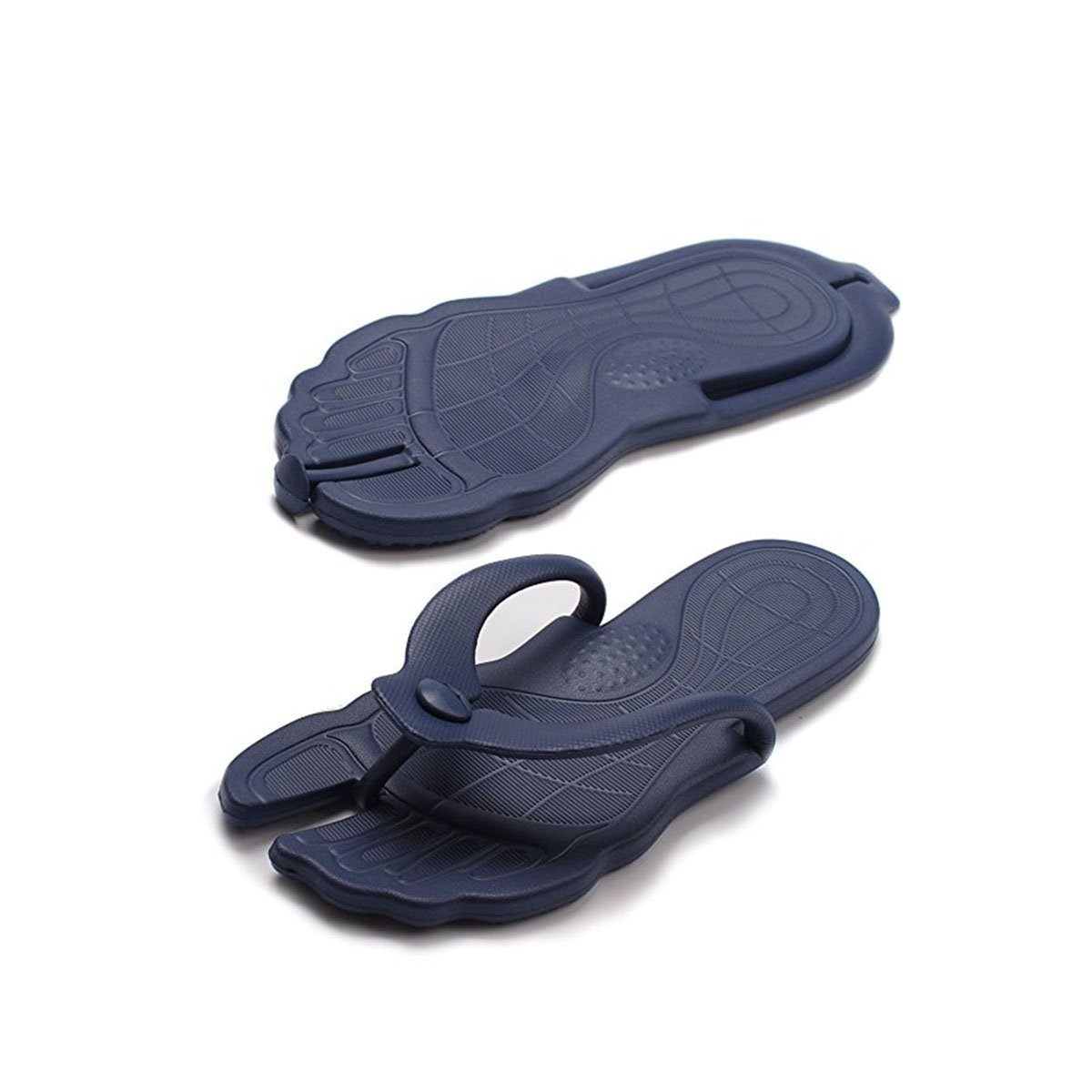 ARSTART Foldable Flip Flops Sandals Mens Womens Travel Beach Slippers Portable Anti-Slip Indoor Outdoor Bathroom Shoes