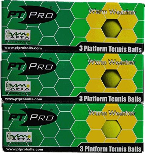 PT/PRO Summer Platform Tennis Balls 9 count (Apta Platform Tennis)