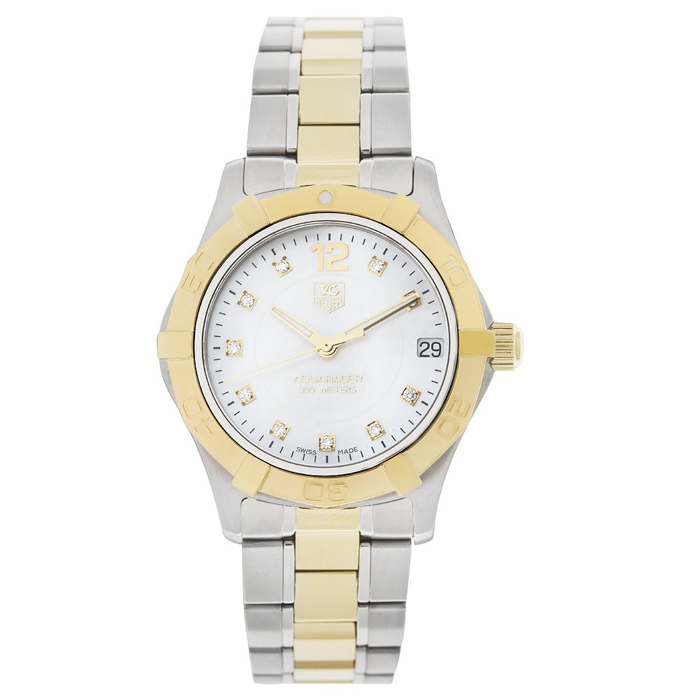 TAG Heuer Women s WAF1320.BB0820 Aquaracer Stainless Steel, 18k Gold, and Diamond Watch
