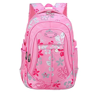 0d31e450fb Naituo Floral Printed Children Backpack School Bag for Girls