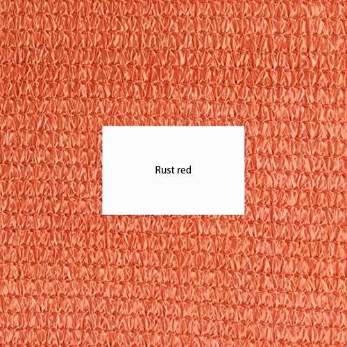 JIAYUAN Shade Fabric Shade Sails,13×20ft Rectangle Permeable Canopy Sun Shade Sail UV Block Idea for Outdoor Patio Garden Preschool Kindergarten Customizable (Color : Rust red) (Ideas Outdoor Patio Permeable Patios)