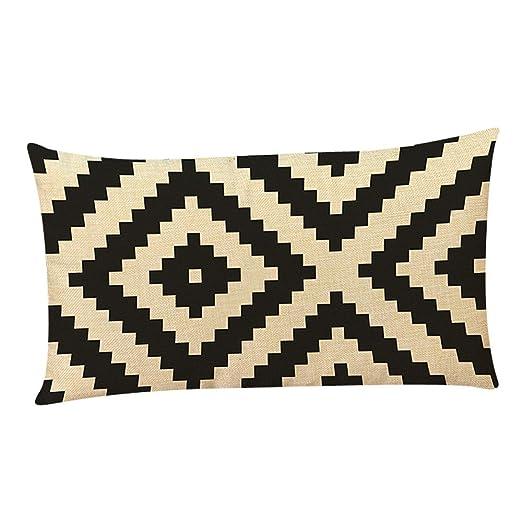 LEEDY - Funda de cojín para sofá de salón o Dormitorio con Cremallera Invisible de 30,48 x 50,8 cm, poliéster, B, Medium
