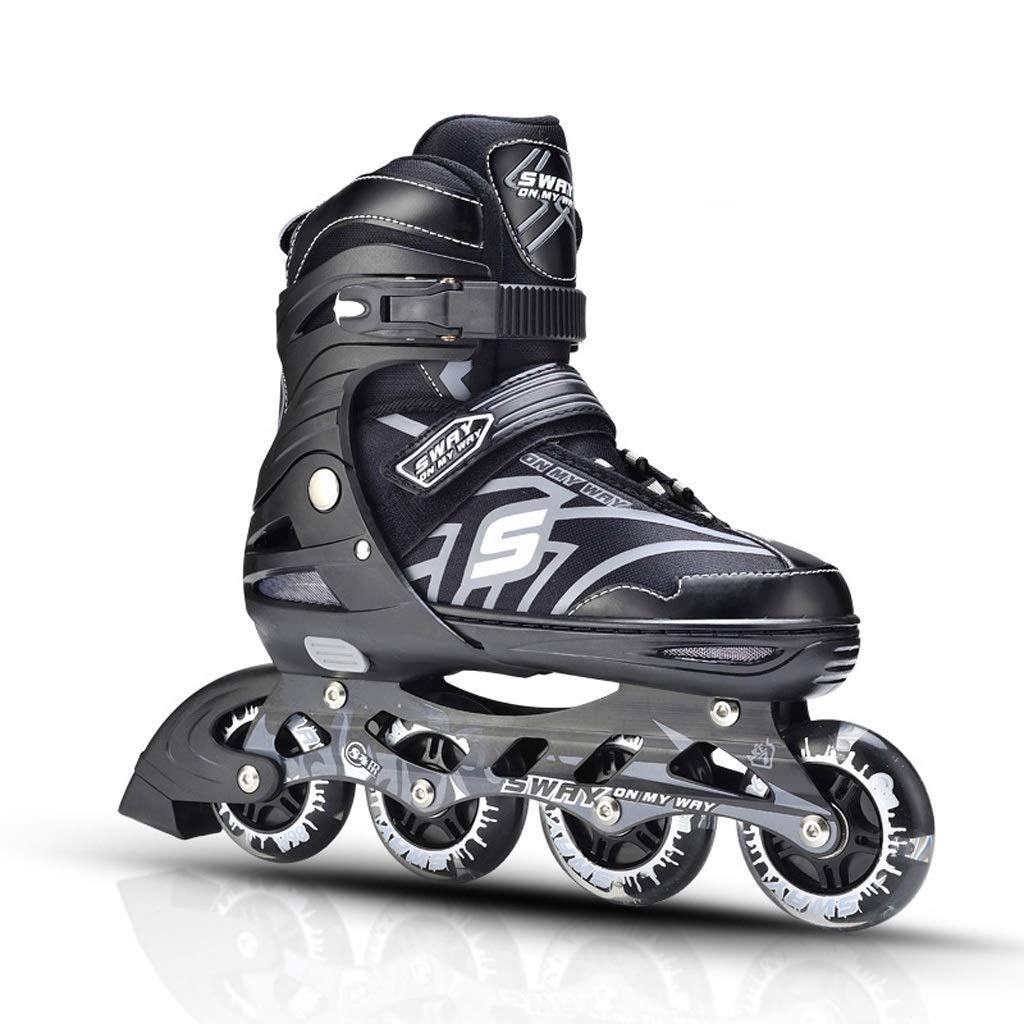 ZHANGHAIMING 調節可能なインラインスケート、男性と女性の学生のためのプロのスピードスケート靴はPUの車輪、初心者のための子供の単一行スケート、サイズ31-43を着用します (色 : C, サイズ さいず : S (31-34)) C S (31-34)