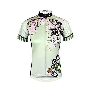 Kranchungel Womens Short Sleeve Breathable Outdoor Bicycle Cycling Jersey