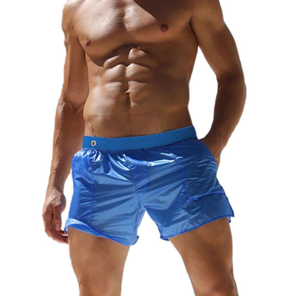 ZHANGJZJ 2018 Men Swimwear Swimsuit Swimming Trunks Board Briefs Beach Shorts Swim Suits