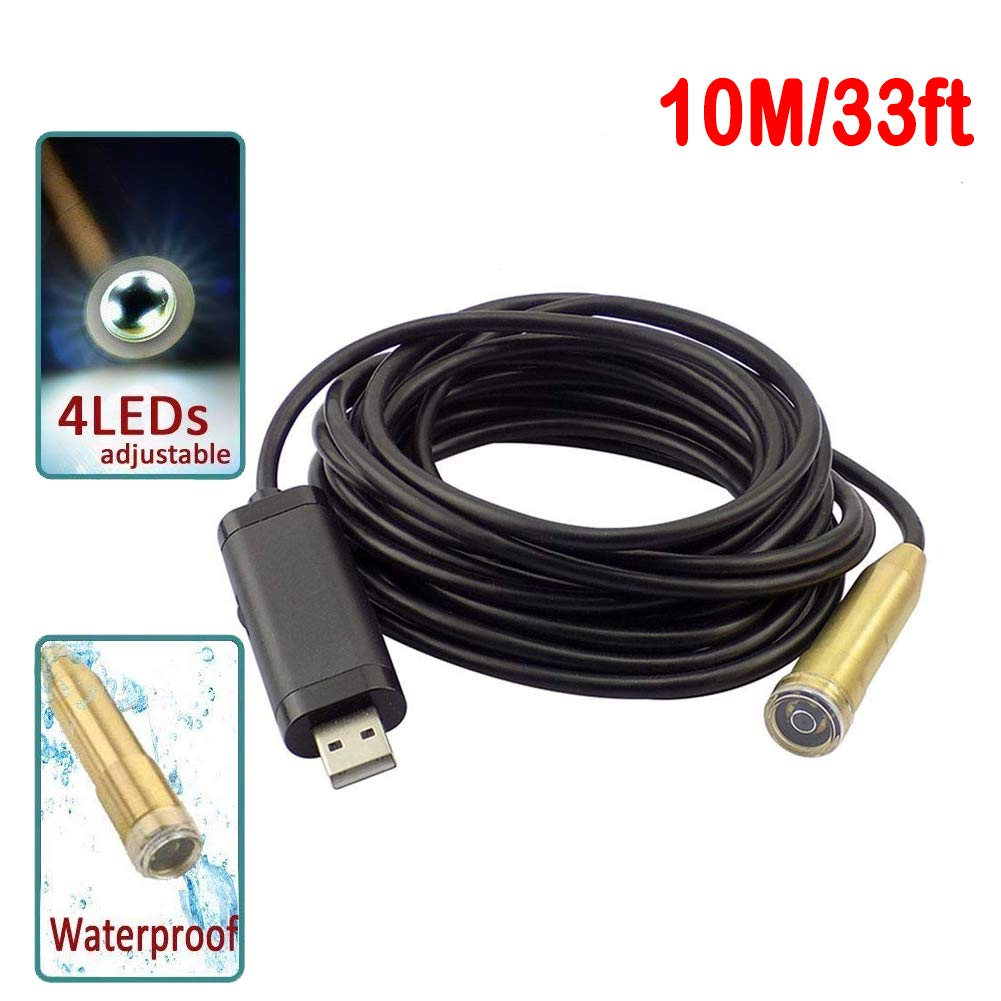 Pipe Inspection Camera Endoscope Video Sewer Drain Cleaner Waterproof Snake USB.