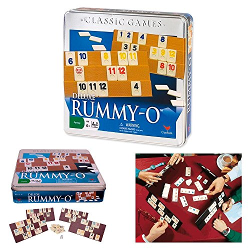 ATB Deluxe Rummy-O Cardinal Classic Tile Number Game Rumm...