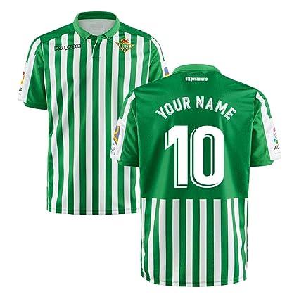 compra venta 50% rebajado más de moda Amazon.com : 2019-2020 Real Betis Kappa Home Football Soccer ...