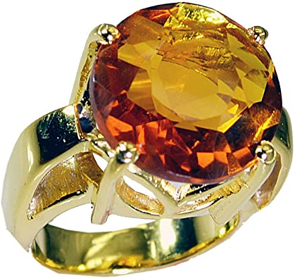 Gold plated Citrine Ring November Birthstone,Citrine Jewelry,Twist Band Ring Citrine Engagement Ring,Gemstone Ring Promise Gift for Women