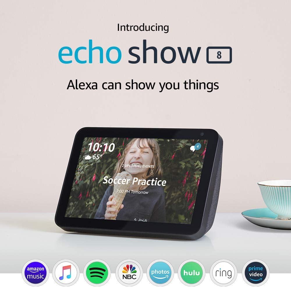 Echo Show 8 - Charcoal
