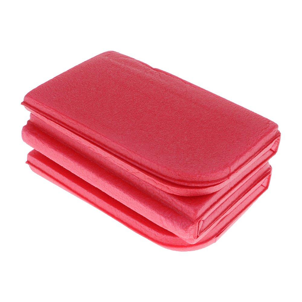 GGG Almohadillas de asiento de coj/ín de espuma XPE port/átil de plegable impermeable Mat para camping picnic color rojo