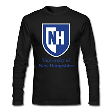 d4b746059 Amazon.com: Men University Of New Hampshire Long Sleeve T-Shirt White:  Clothing