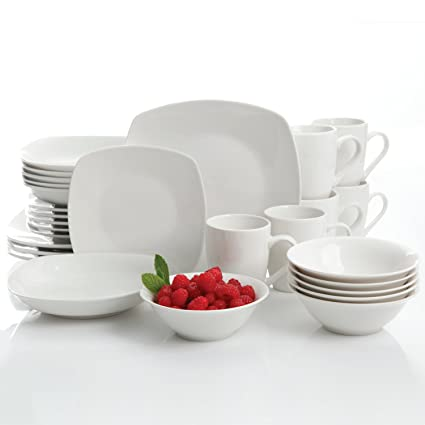 Gibson Home Hagen 30 Piece Dinnerware Set White  sc 1 st  Amazon.com & Amazon.com | Gibson Home Hagen 30 Piece Dinnerware Set White ...