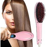 RAZZL DAZZL HAIR Electric Comb Brush 3 in 1 Ceramic Fast Hair Straightener For Women's Hair Straightening Brush with LCD Screen, Temperature Control Display,Hair Straightener For Women,
