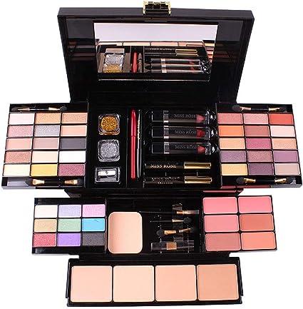 Estuche de cosméticos con sombra de ojos, paleta de rubor en relieve, multifunción, capacidad de reparación, paleta de maquillaje 39 colores: Amazon.es: Belleza