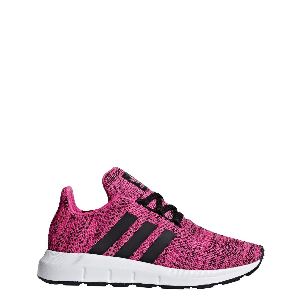 adidas Originals Kids Girl's Swift Run C (Little Kid) Shock Pink/Black 1 M US Little Kid