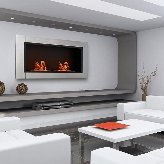 Biocamino diseño moderno pared bioetanol mesa muebles casa ...