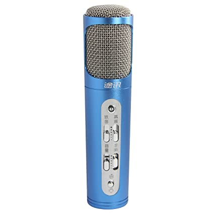 K098 Mini Micrófono con Jugador Karaoke Condensador Recargable, Cantar y Grabar la Canción para Móviles