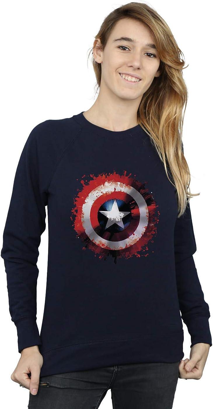 Marvel Mujer Avengers Captain America Art Shield Camisa De Entrenamiento Azul Marino XX-Large: Amazon.es: Ropa y accesorios