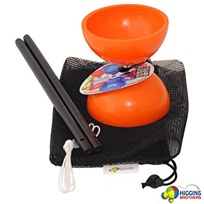 Higgins Brothers Tropic Chinese YoYo Set with Chinese YoYo Sticks and Mesh Carry Bag - Diablo Toy Designed by Cirque du Soleil Medium Size with Solid Colors (Orange): Toys & Games