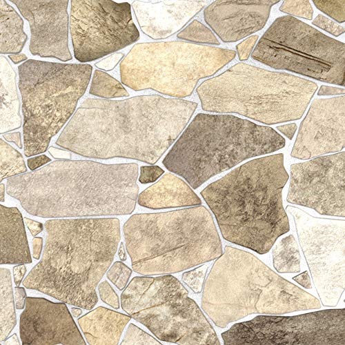 Wild Beige Stone PVC 3D Wall Panels - Interior Design Wall Paneling Decor Commercial and Residential Application, 3.2