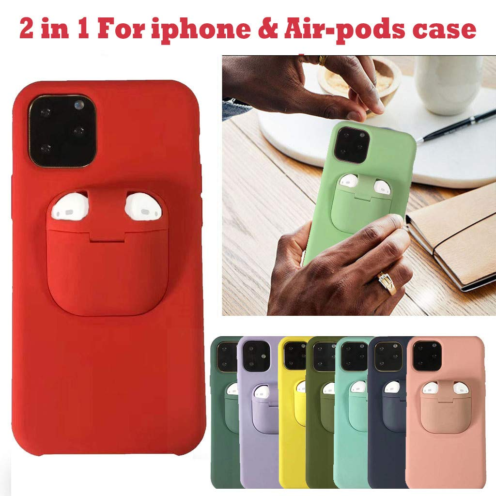 Buy Cigou 2 In 1 Wireless Headset Set Protection Compatible With Iphone 11 Pro Max And For Airpods Green Online At Low Prices In India Amazon In