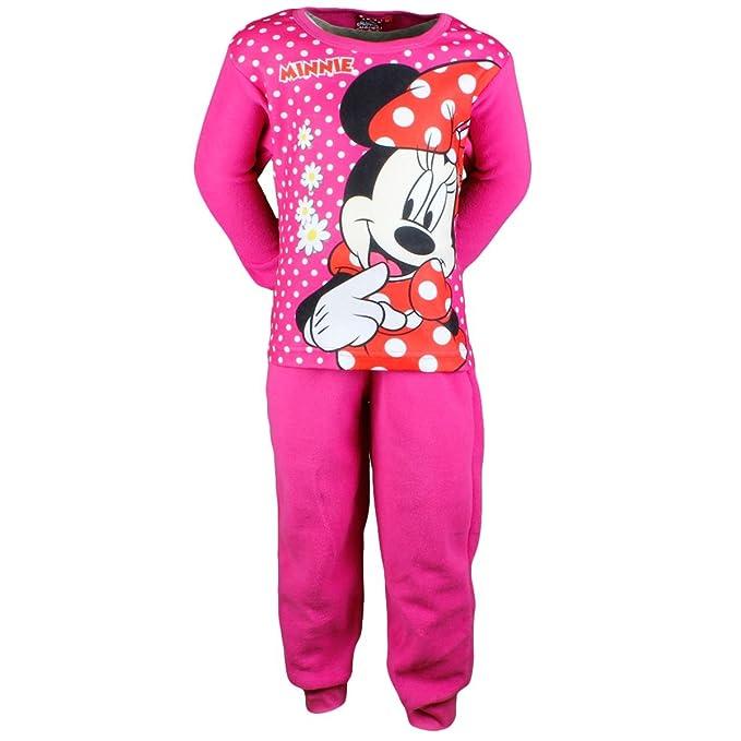Chica de forro polar-ropa de dormir Minnie