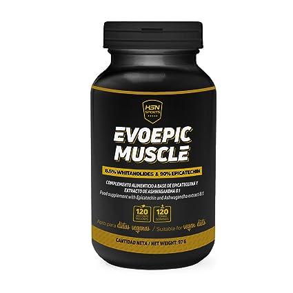 Evoepic Muscle de HSN Sports – Inhibidor de Miostatina con Ashwaganda y Epicatequina – Constructor de