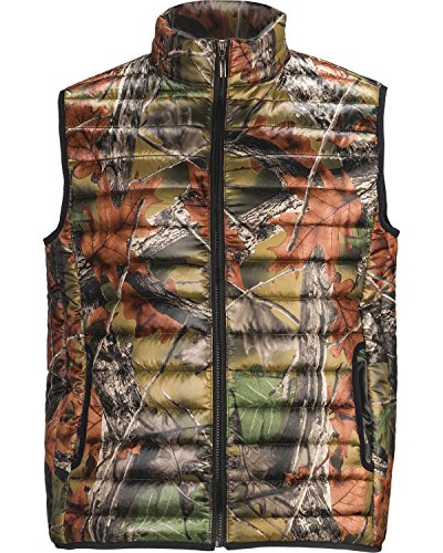 Trail Crest Men's Ultra Thurmic Silk Padded Camo Quilted Vest Camouflage Medium (Camouflage Vest)