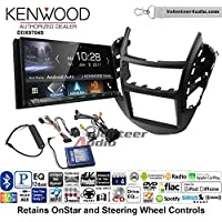 Volunteer Audio Kenwood DDX9704S Double Din Radio Install Kit with Apple Carplay Android Auto Fits 2015-2016 Chevrolet Trax