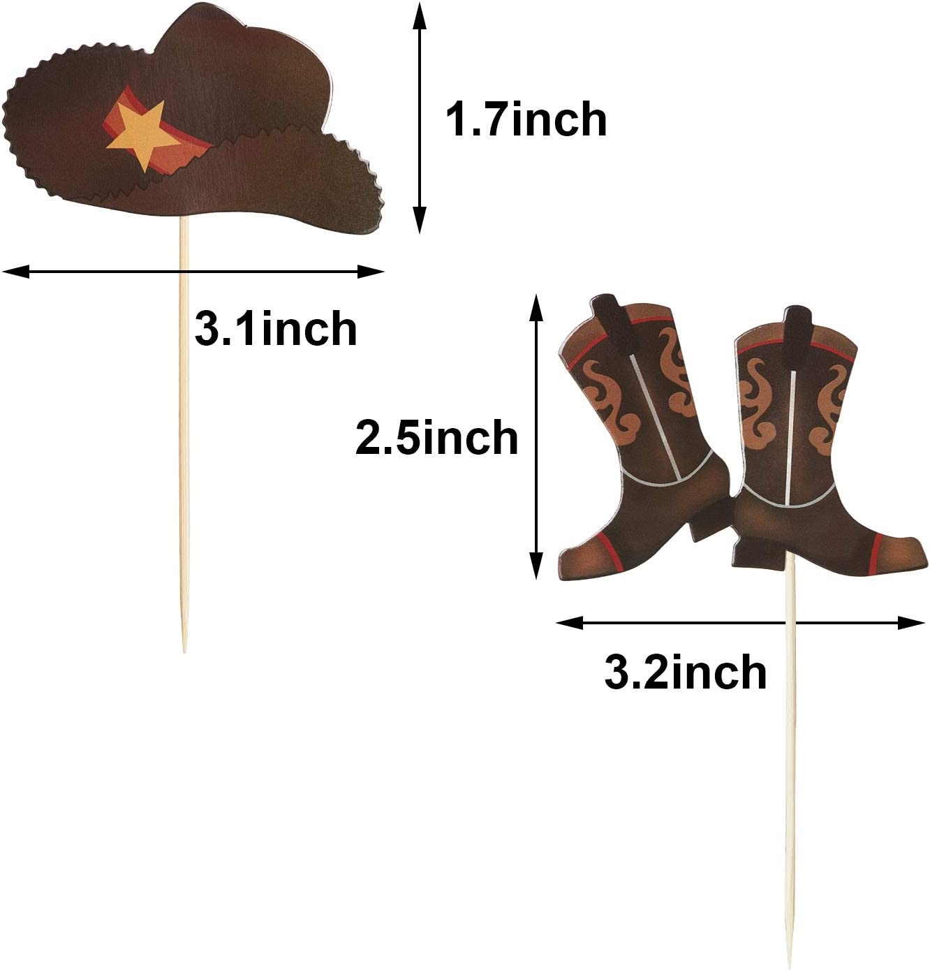 Hat Cowgirl Apron Country Cowboy Saddle Leather Boots Western BBQ Cookout Star Sheriff Badge Adjustable Straps