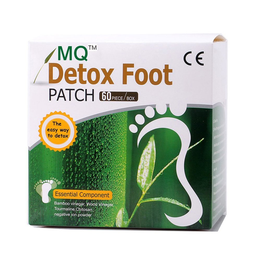 UniMQ Natural Herbal Detox Foot Care Patches/Pads Bamboo Vinegar Detox Foot Patch Beauty Slimming Sleeping aid Pad - 60 Pcs/Box with 1 Pair Free Socks (1)
