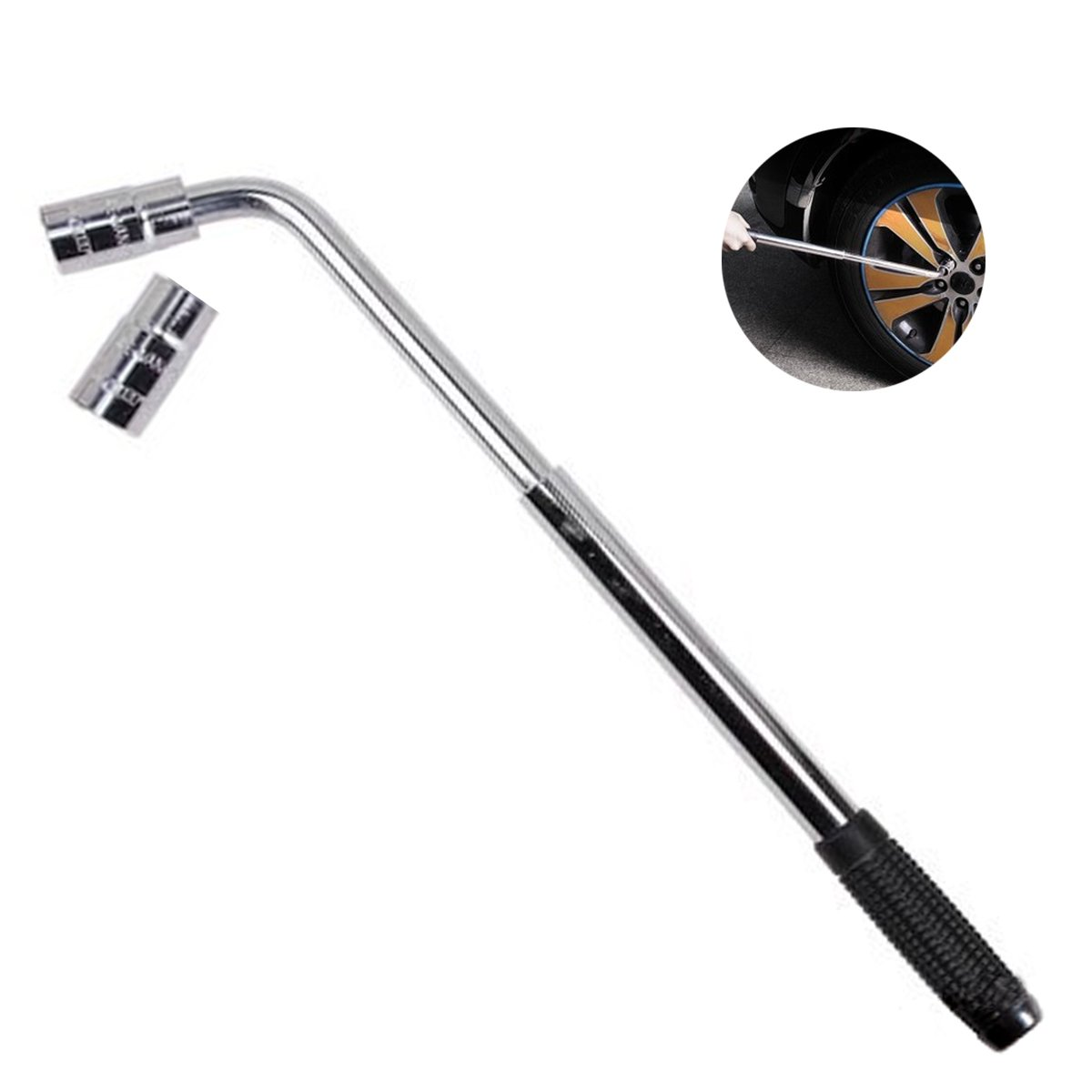 Jiele Wheel Wrench, Extendable Wheel Brace Wrench Nut Bolt Remover 17-19/21-31mm