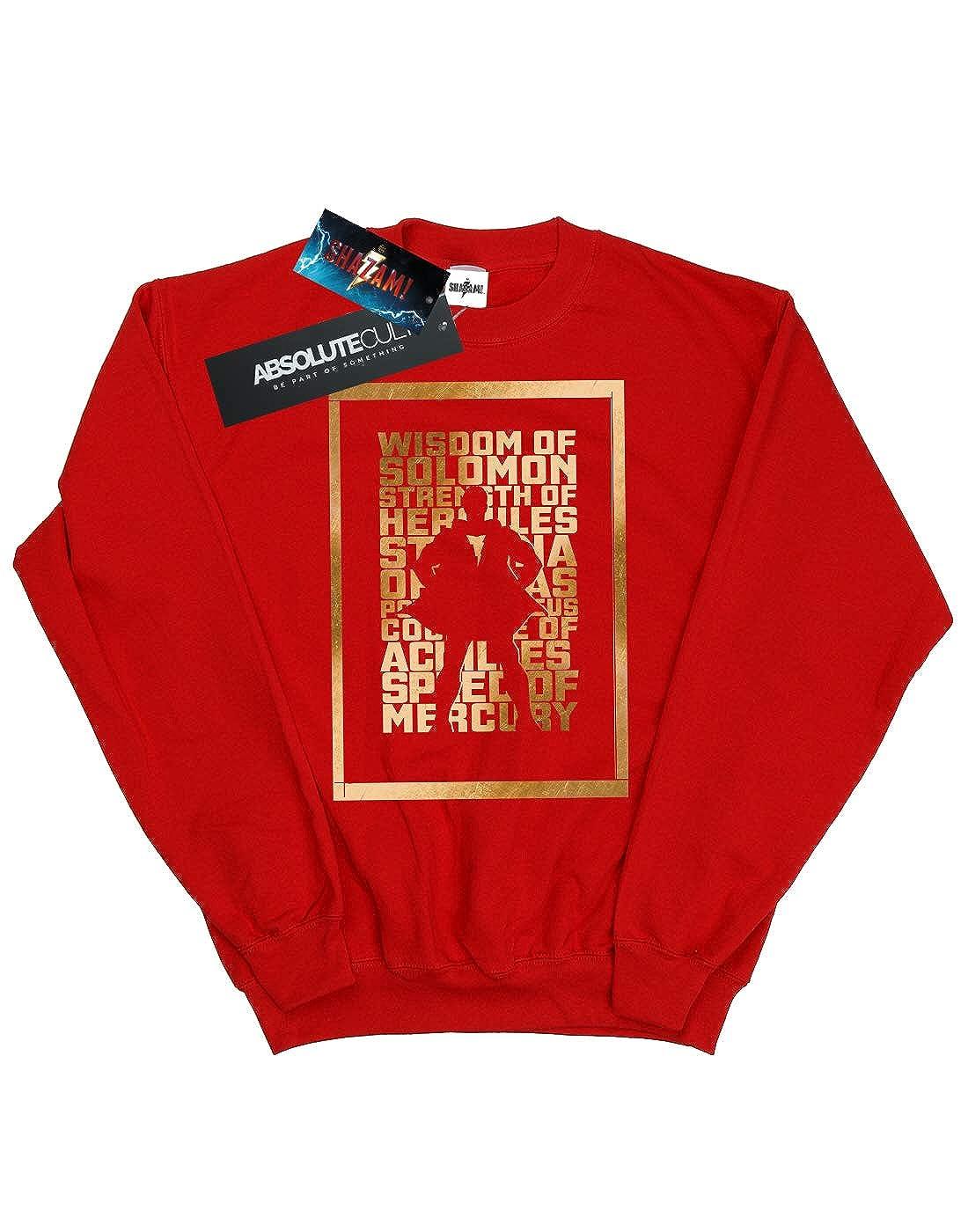 DC Comics Girls Shazam Gold Text Sweatshirt