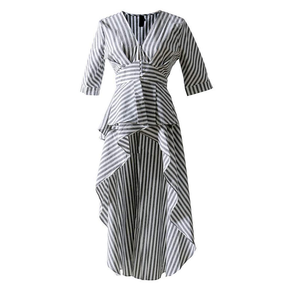 Long Blouse for Women V Neck Tunic High Waist Ruffles Fashion Shirt 2019 Fashion OL Tops Clothing