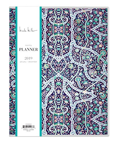"Nicole Miller for Blue Sky 2019 Monthly Planner, Flexible Cover, 8.5"" x 11"", Bramble"