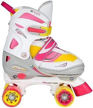 64c2f1cd7df Nijdam Unisex 52SF Girls Adjustable Roller Skates, Blue/Red/Silver, One Size