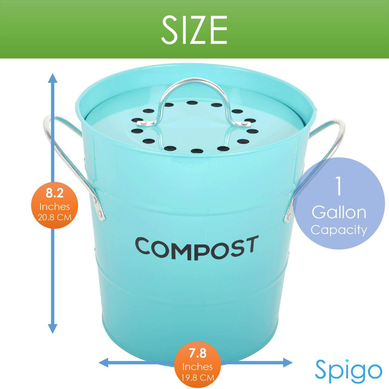 Amazon.com: Spigo - Filtro de repuesto para cubo de basura ...
