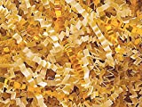 French Vanilla & Gold Crinkle Cut 10 lb Box ~ Spring-fill Shred - WRAPS-ZF10FVG
